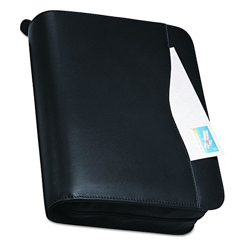 Day-Timer Verona Leather Planner, Zip Closure, Folio Size, 11 x 13 Inches, Black ()