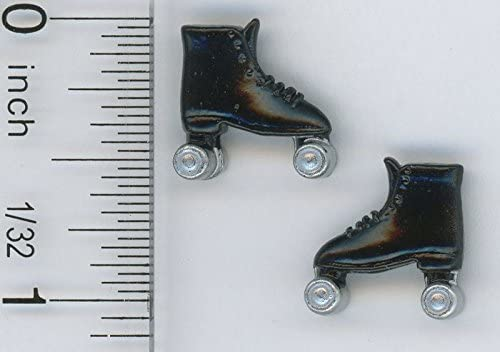 Dollhouse Miniature Pair of Roller Scates w//Skate Key