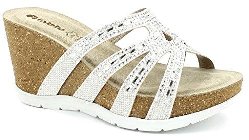Blanc Bianco Femme pour Sandales 37 EU Inblu qF4fBB