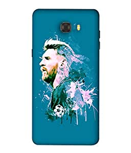 ColorKing Football Messi Argentina 20 Blue shell case cover for Samsung C7 Pro