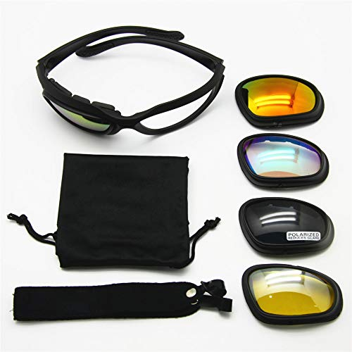 cc6a12981d1a EnzoDate Daisy C5 Motorcycle Goggles Polarized 4 Lens Kit