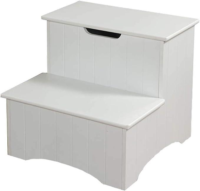 BOC Taburete de 2 peldaños, taburete para niños, taburete de escalera, taburete de escalera para bebé/taburete bajo/taburete de cabecera/taburete para el hogar,Blanco: Amazon.es: Bricolaje y herramientas