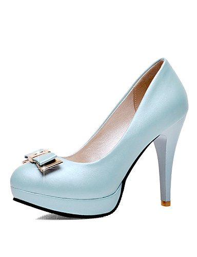 GGX/Damen Schuhe PU Stiletto Heel Heels/Schuhe Heels Office & Karriere/Casual Blau/Pink/Weiß white-us9 / eu40 / uk7 / cn41