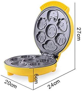 BBGSFDC Forme Animale Waffle Maker Machine avec antiadhésifs et contrôle Browning réglable for Le Petit déjeuner, Le déjeuner ou des collations