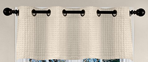 Veratex The Payton Collection 100% Cotton Made in The USA Modern & Elegant Grommet Window Valance, Ivory