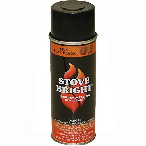 - Stove Bright 6304 Stove BrightTM High Temperature Flat Black Stove Paint