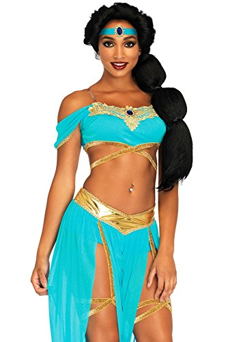 Egyptian Princess Adult Wig - Leg Avenue Women's Costume, Blue,