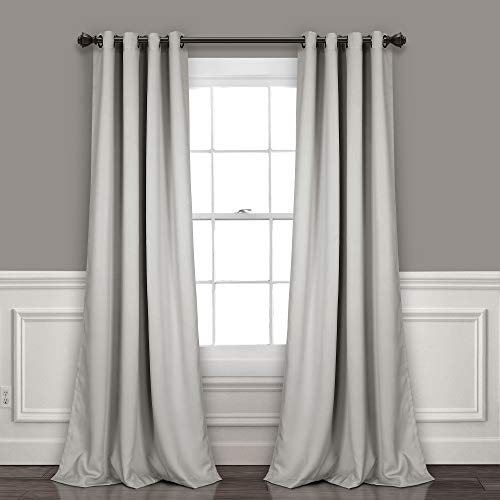 Lush Decor Curtains-Grommet Panel with Insulated Blackout Lining