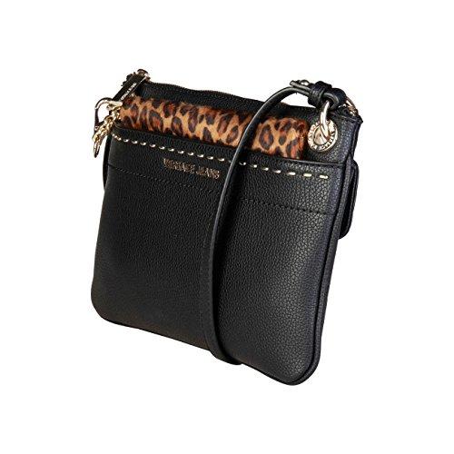 £210 Women Versace Bag Crossbody Body RRP Black Genuine Jeans Bag Cross 00 Designer C5wqrHP5
