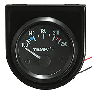 MATCC 2 Inch 52mm 100-250 Degree F Car Auto Water Temperature Gauge Backlight 12V