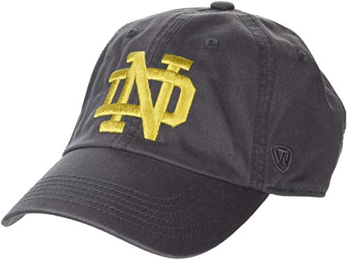 low priced bb6c9 710bb Top of the World NCAA Notre Dame Fighting Irish Men s Adjustable Relaxed  Fit Charcoal Icon Hat