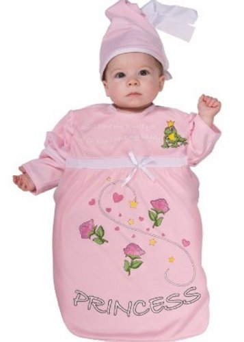 Rubie's Costume Tyke Or Treat Baby Bunting Costume Pink Princess, Princess, 0-9 Months (2)