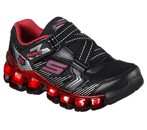 Skechers Kids Kids' Flashpod-Skirmish Sneaker,BLACK/RED/BLUE,1 M US Little Kid (Shoes Boys Skechers Size 1)