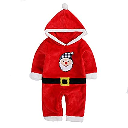 traje de Papá Noel (0 - 2 años) Franela traje de bebé ...