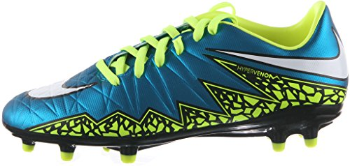 WMNS HYPERVNM PHLN 2 FG s zapatos de fútbol-744946-400 BLUE LAGOON/WHITE-VOLT-BLACK