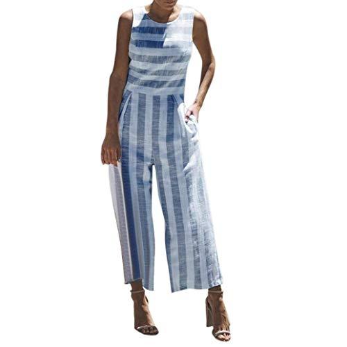 Sexy d'été Wrap seule Culottes Bodycon décontractée Striped Zhrui Taille couleur Baggy Bleu Jumpsuit Tenue jambe Maxi d'une Harem Shorts large Marine Petit Women's pièce wFAOZqnZYX