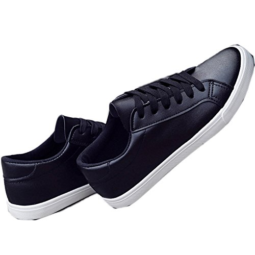 Better Annie New Spring and Summer With White Shoes Women Flat Leather Canvas Shoes Female White Board Shoes Casual Shoes Female Black 8