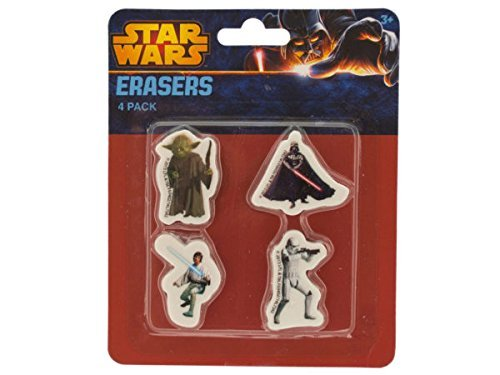 Star Wars Erasers Set - Pack of 36