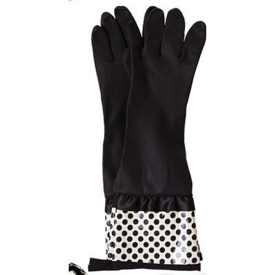 Jessie Steele Deco Dot Rubber Gloves with Bow