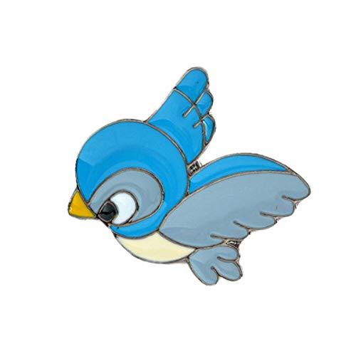 85style Enamel Collar Pins Badge Corsage Cartoon Brooch Fashion Jewellery (Color - #19-Blue bird3) -