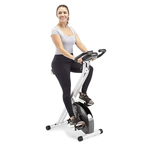 Marcy Foldable Exercise Bike With Adjustable Resistance For Cardio ...