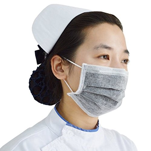 Healthcom Disposable Earloop Medical Surgical Four Layer Activated Carbon Filter Face Masks,Pack of 100 by Healthcom (Image #2)