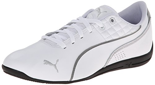(PUMA Men's Drift Cat 6 Tech Motorsport Shoe, White/Steel Gray, 7.5 M US)