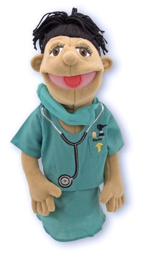 Melissa & Doug Surgeon Puppet With Doctor Scrubs