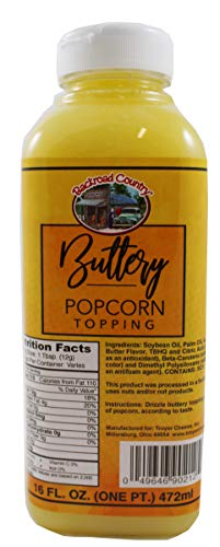 Backroad Country Buttery Popcorn Topping, 16 Ounce Bottle (One Pint)