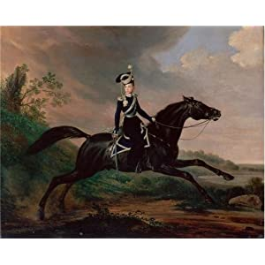 Perfect Effect Canvas ,the Amazing Art Decorative Prints On Canvas Of Oil Painting 'Equestrian Portrait Of Grand Prince Alexander Nikolayevich,1832 By Franz Kruger', 20x25 Inch / 51x63 Cm Is Best For Laundry Room Decoration And Home Artwork And Gifts