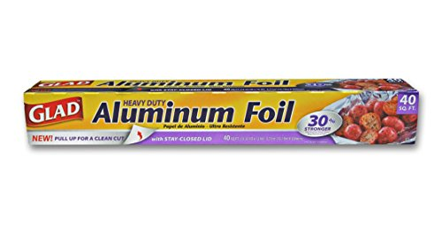 - Glad Aluminum Foil, 40 Square Foot Roll, 12 inches Wide, Best Quality for Kitchen & Grill Use, for Easy Prep, Cooking, Cleaning