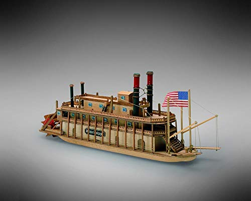 (Mamoli MM13 - Mississippi - Pre-Carved Wooden Hull Ship Model Kit - Scale 1/206 Length 240mm (9.5