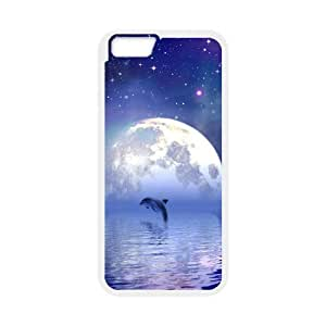 """Iphone6 4.7"""" 2D Customized Phone Back Case with Dolphin Image"""
