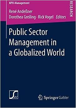 Public Sector Management In A Globalized World por René Andeßner epub