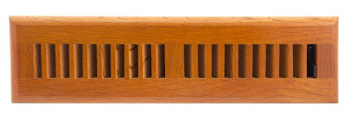 (Accord AOFROML210 Floor Register with Red Oak Louvered, 2-Inch x 10-Inch (Duct Opening Measurement), Medium Finish)