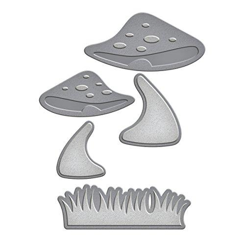 Spellbinders S2-194 Die D-Lites Mushrooms with Grass Etched/Wafer Thin Dies