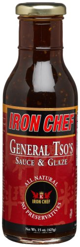 (IRON CHEF General Tso's Sauce & Glaze, All Natural, Kosher, 15-Ounce Glass Bottles (Pack of 3))