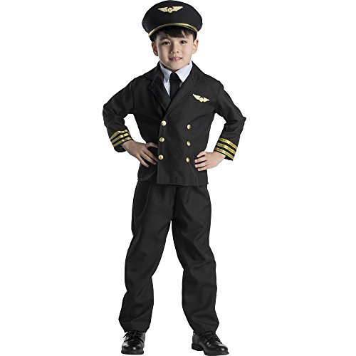 [Pilot Boy Jacket Costume Set - Toddler T4] (Pilot Costumes Kids)