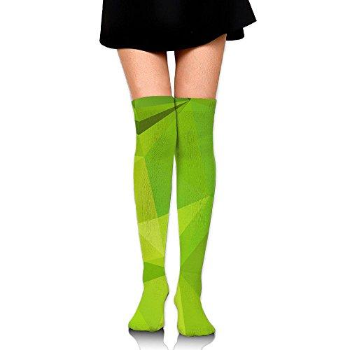 膨らみロバ一晩緑色 クリスタル ストッキング サイハイソックス 3D デザイン 女性男性 秋と冬 フリーサイズ 美脚 かわいいデザイン 靴下 足元パイル ハイソックス メンズ レディース ブラック