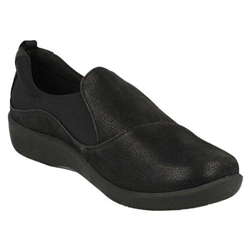 Black Paz Womens Sillian Large Décontractée Clarks Chaussure AOfqc