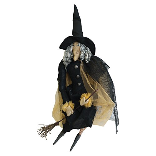 "Amazon.com: ""Gerty"" Bruja Halloween Figura tela ..."