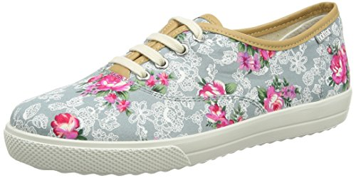 Lace Scarpe Oxford Floral Mabel Hotter Multicolore Stringate Donna Aqua xPRCw1q