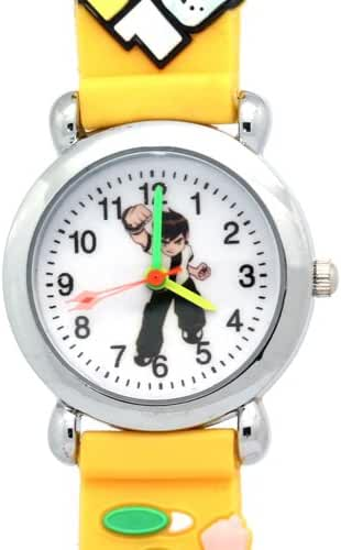 Timernall Original Cartoon Ben10 Analogue Quartz Yellow Watches