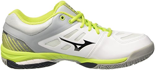 Exceed Tennis Limepunch Ac White Black Sl Mizuno Wave Shoes White Men Rwx64O
