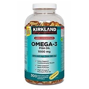 Kirkland signature super concentrate omega 3 for Omega 3 fish oil costco