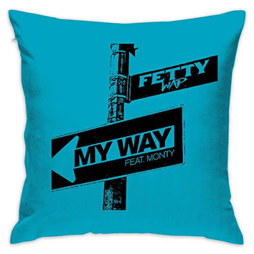 Yangkun Throw Pillow Covers Fetty Wap Rapper 18 X 18 Inches Cushion Sham for Couch Bed Sofa Painted Colorful Geometric Print Daily Decorations for Home D??cor Square Coastal Cushion Cover