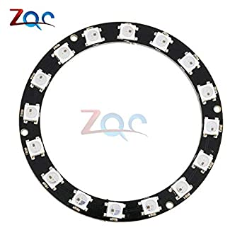 16 Bits 16 X Ws2812 5050 Rgb Led Ring Lamp Light With Integrated Drivers Electronic Components & Supplies