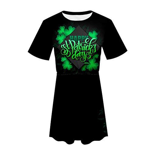 LUCA Irish Shamrock Green Clover Heart St. Patrick's Day Elastic Dress -