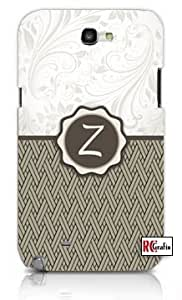 Monogram Initial Letter Z Unique Quality Soft Rubber TPU Case for Samsung Galaxy S3 SIII i9300 - White Case by lolosakes