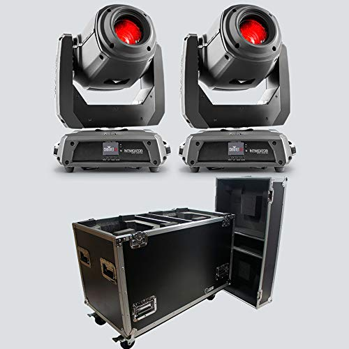Chauvet DJ Intimidator Spot 375Z IRC Moving Head Lights (2) with Rolling Road Case ()